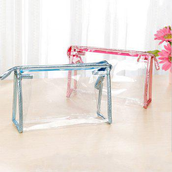 Fashion Transparent Large Capacity PVC Makeup Storage Bag - BABY BLUE