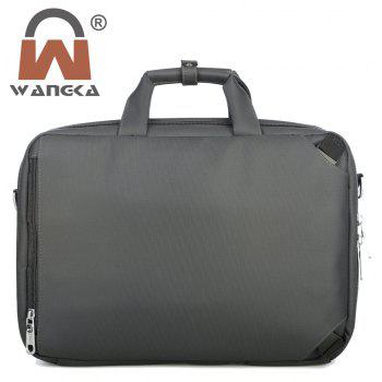 WANGKA Men's Nylon Fabric Business Laptop Bags - HAZEL GREEN HORIZONTAL
