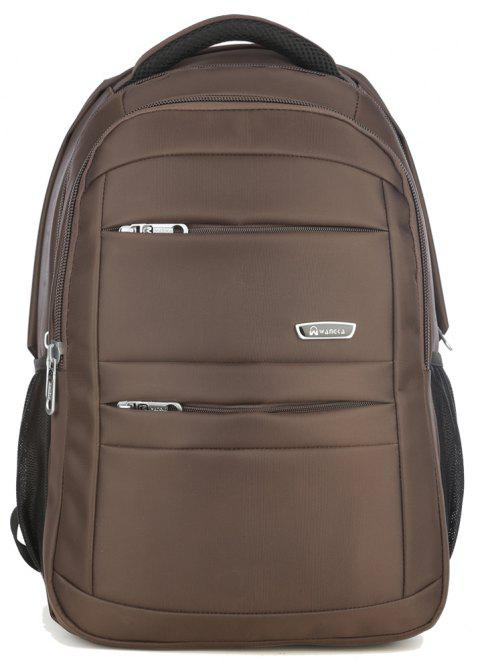 WANGKAG Men's High Quality Polyester Laptop Backpack Bag - BROWN BEAR VERTICAL
