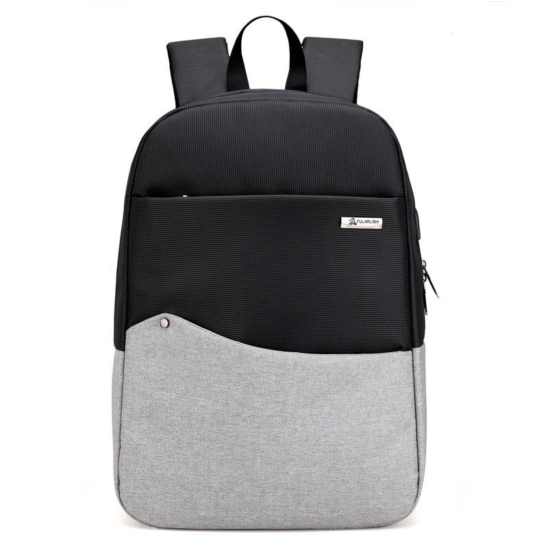 Men Anti Thief Backpacks Fashion Male Laptop USB Backbag Travel Bag - multicolor A