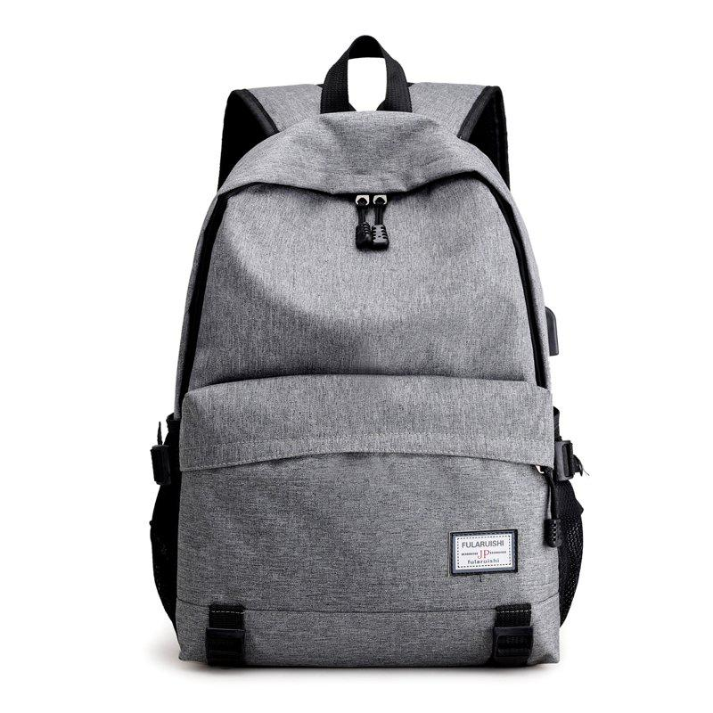 Men Backpacks USB Charging 15 inch Laptop Backbag Anti Thief Travel Bag Male - BATTLESHIP GRAY