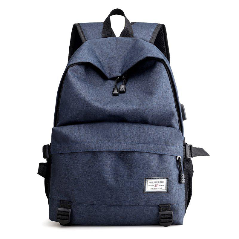 Men Backpacks USB Charging 15 inch Laptop Backbag Anti Thief Travel Bag Male - STEEL BLUE