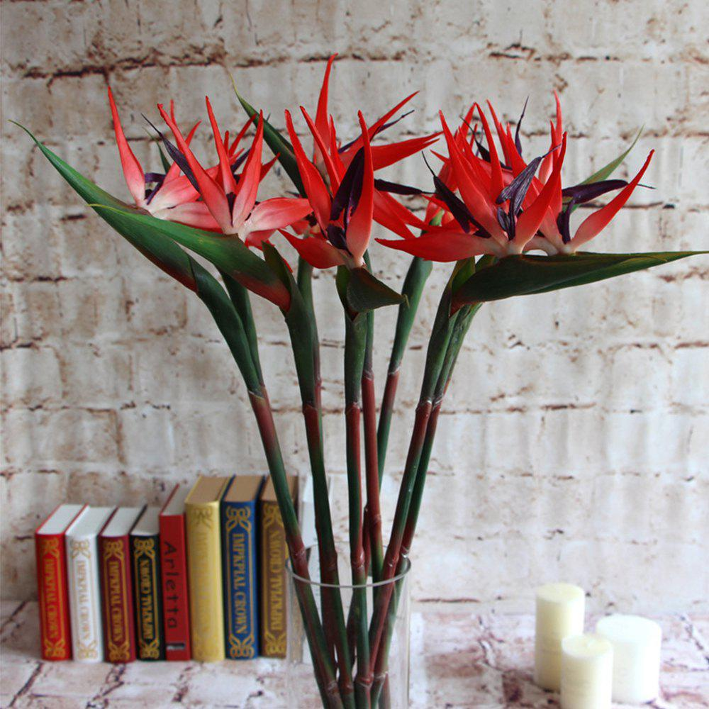Paradise Bird Home Decoration Is Decorated With Artificial Flowers - RUBY RED