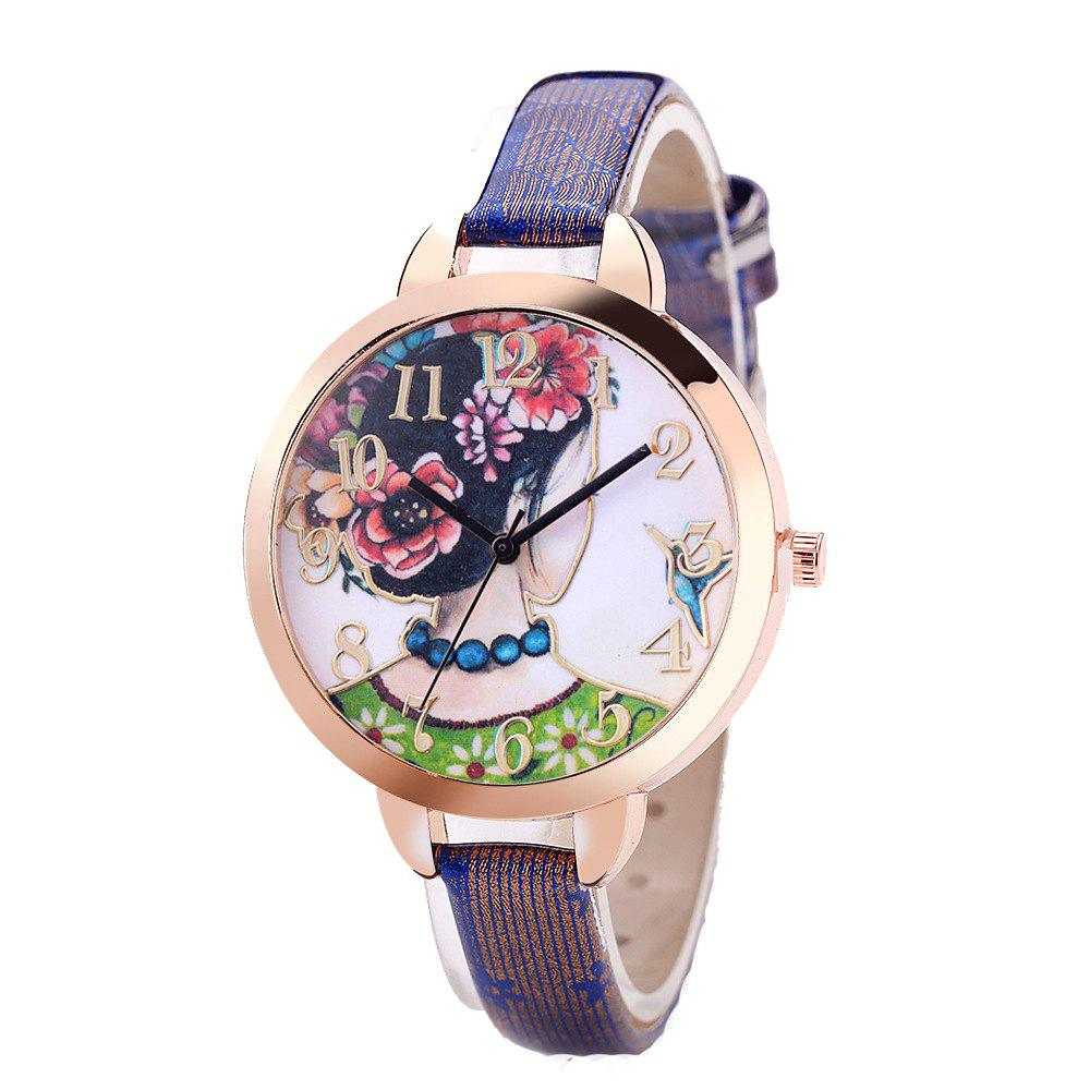 Beijing Opera Actress Pattern Quartz Watch цены онлайн