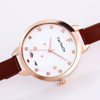 The Star Artificial Diamond Couple Watches - BLOOD RED