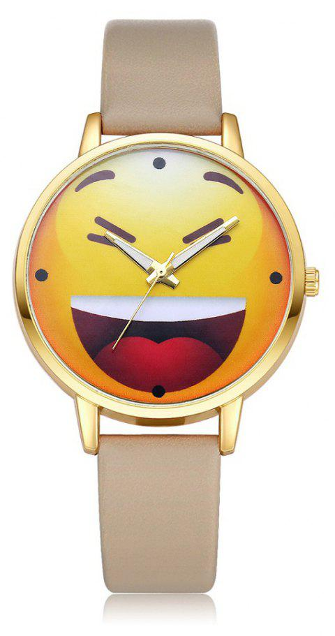 PU Expression Pattern Quartz Cartoon Watch - GRAY CLOUD