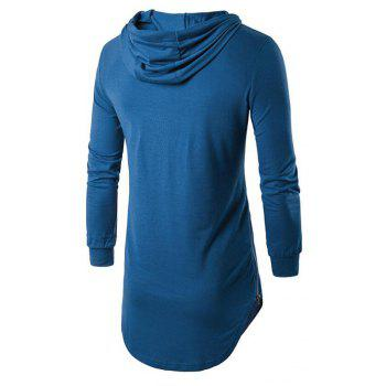 Men's Sports Casual Hoodie Solid  Long Sleeve - SKY BLUE
