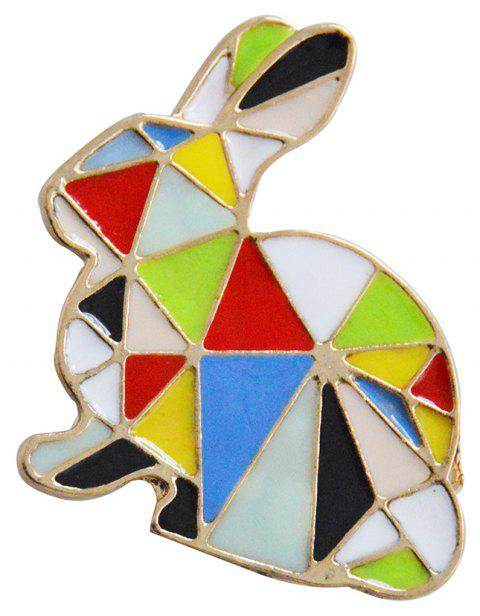 Brooches Women's Dresses Brooch Rabbit Enamel Fashion Jewelry - GOLD