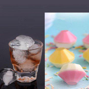 Ice Cube Trays Diamond-Shaped Silicone Ice Tray - Molds with Lid - NATURAL BLACK
