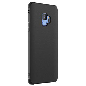 Solid Color Tpu Mobile Phone Case for Samsung Galaxy S9 - BLACK