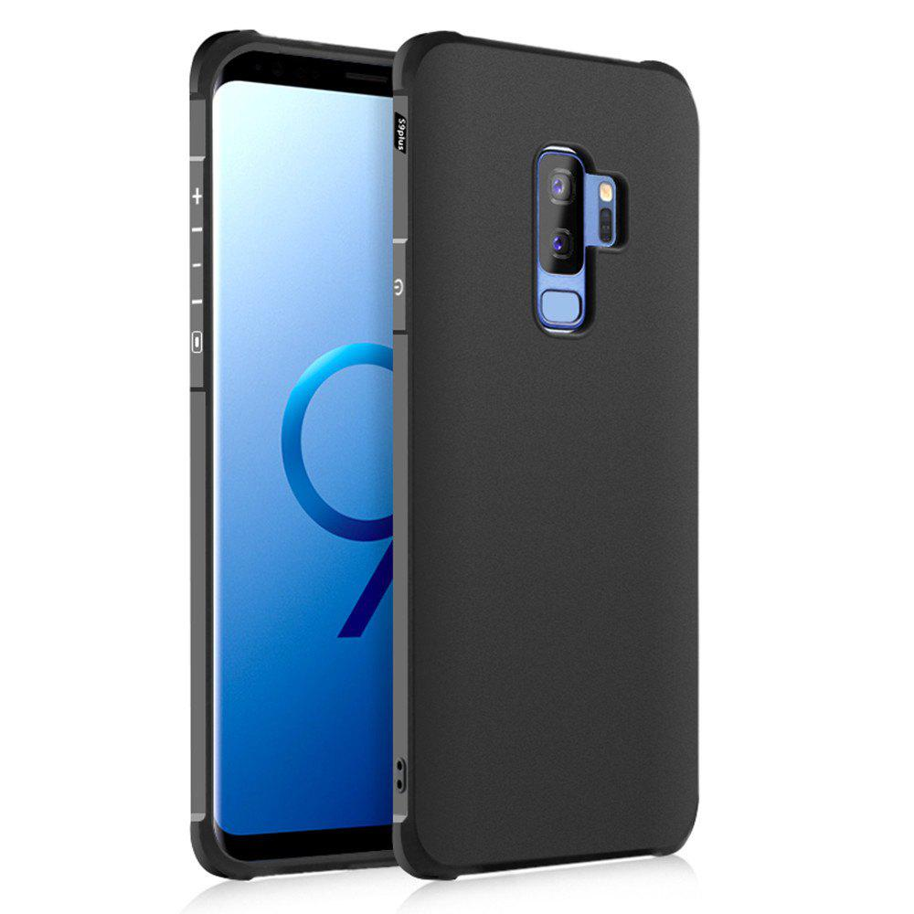 Solid Color Tpu Mobile Phone Case for Samsung Galaxy S9 Plus - BLACK