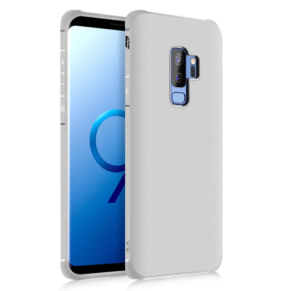 Solid Color Tpu Mobile Phone Case for Samsung Galaxy S9 Plus - LIGHT GRAY