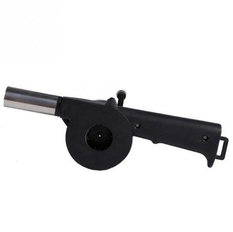 Outdoor Camping Barbecue Tool Hand Blower - BLACK