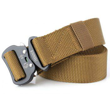ENNIU New Men Adjustable Combat Web Waistband Rescue Rigger Belt Width 4.3CM - LIGHT BROWN
