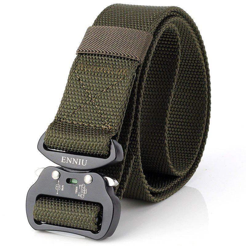 ENNIU New Men Adjustable Combat Web Waistband Rescue Rigger Belt Width 4.3CM - ARMY GREEN