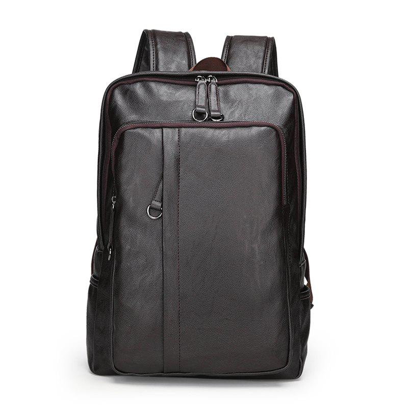 Men'S Large Capacity High Quality Backpack - DEEP COFFEE
