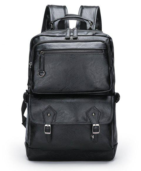 Large Capacity Outdoor Casual Backpack - BLACK