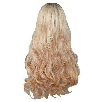 Long Hair Large Roll Chemical Fiber Front Lace Wig - BLONDE 24INCH