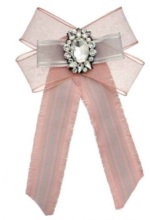 Bohemia Exaggerated Lace Bow Brooch Women Adorn Article - LIGHT PINK