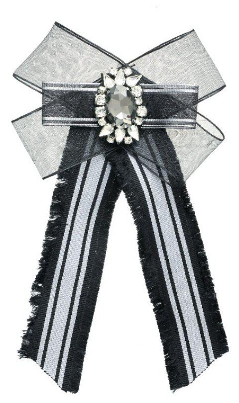 Bohemia Exaggerated Lace Bow Brooch Women Adorn Article - BLACK