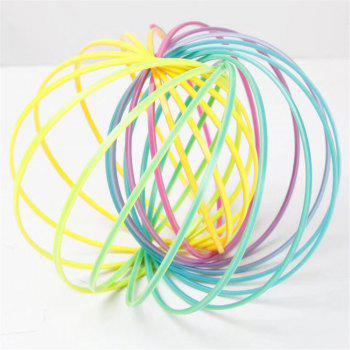 Novelty Plastic Rainbow Flow Ring Kinetic Spring Toy - multicolor
