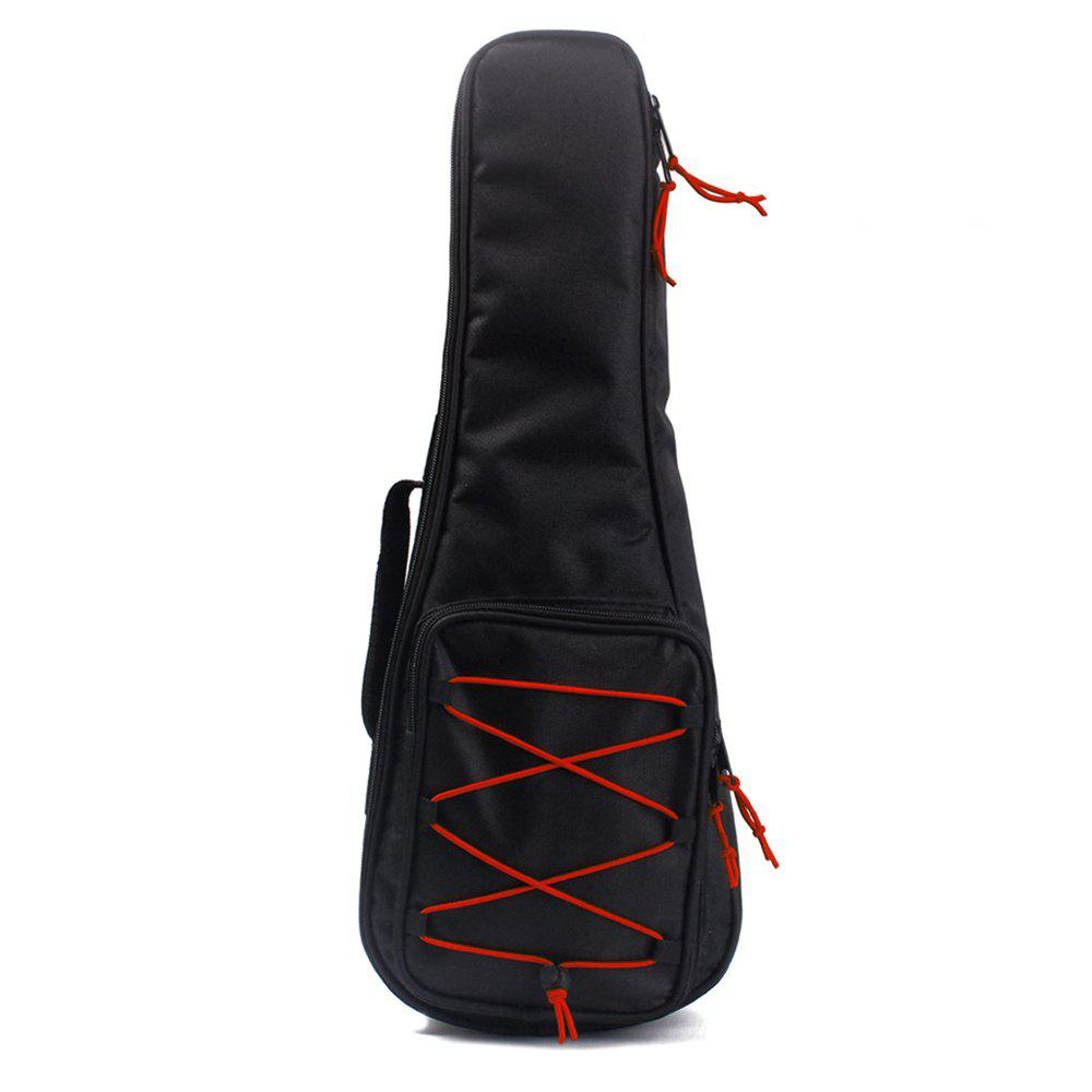24 inch Ukulele Cotton Padded Geometric Gig Bag Guitar Case Musical Instruments - BLACK