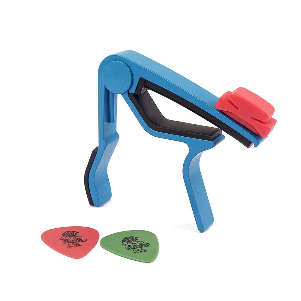 Blue Tuner Quick Change Clamp Key Clip for Acoustic Classic Guitar Picks Capo - BLUE ZIRCON