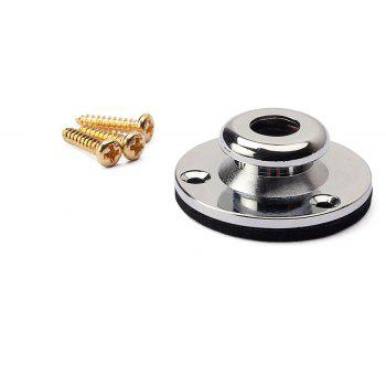 Gold Screw Mount Endpin Silver Jack Plate with Washer for Acoustic Guitar - SILVER