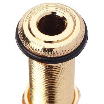 6.35mm End Pin Endpin Jack Socket Plug Mono Output for Acoustic Electric Guitar - GOLD