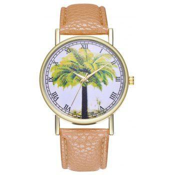 Kingou T108-1 Trendy Landscape Tree Pattern Neutral Quartz Watch - BEIGE