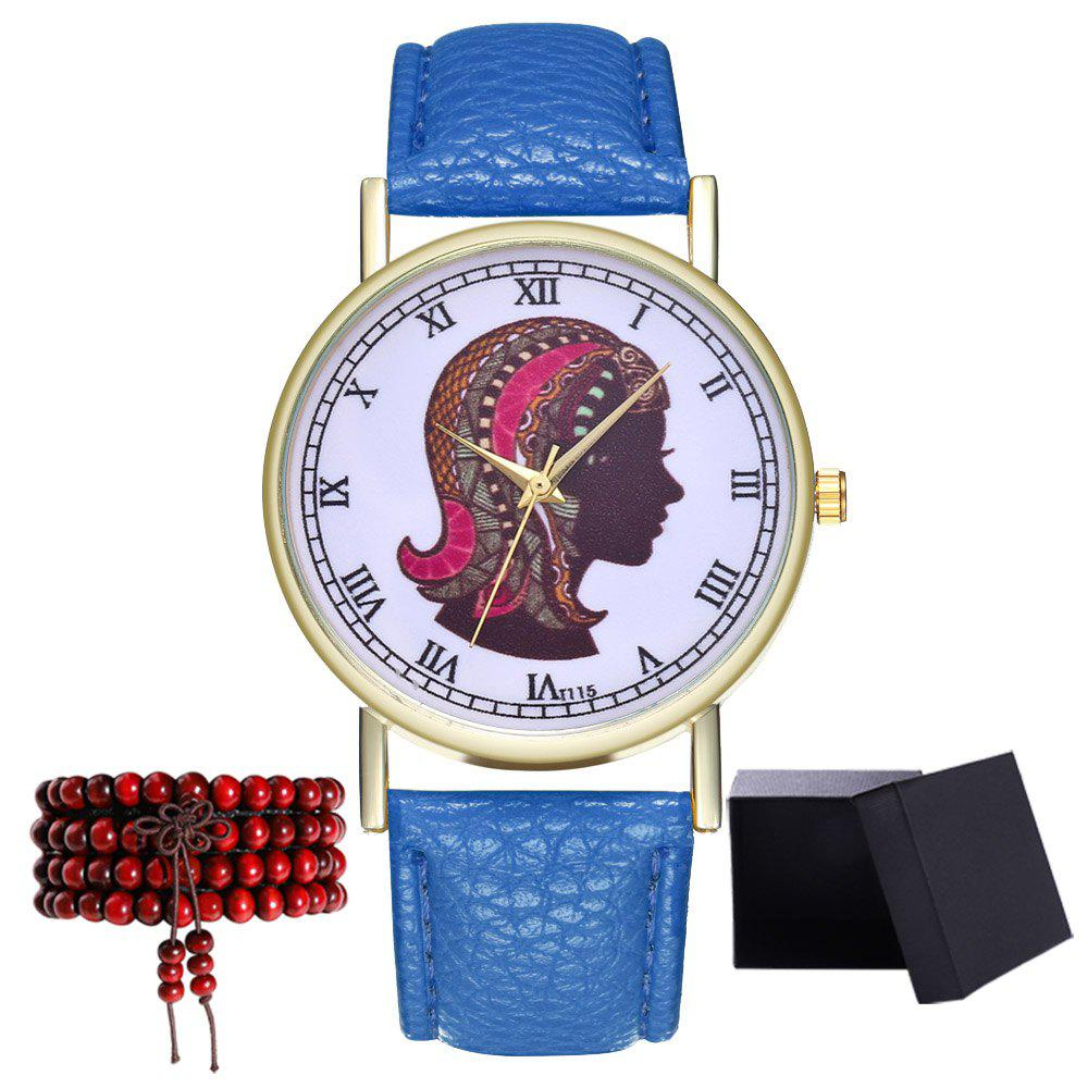 Kingou T115-1 Cute Head Pattern Lady Quartz Watch - ROYAL BLUE