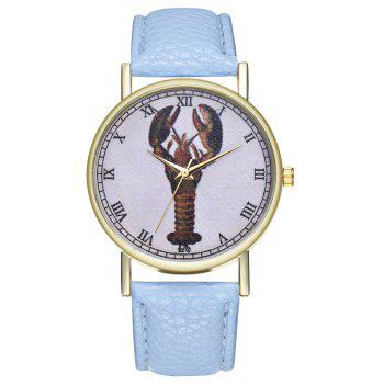 Kingo T313-1 Mini Shrimp Pattern Neutral Quartz Watch - LIGHT BLUE