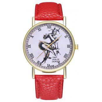 Kingo T328-1 Creative Painting Pattern Neutral Quartz Watch - RED