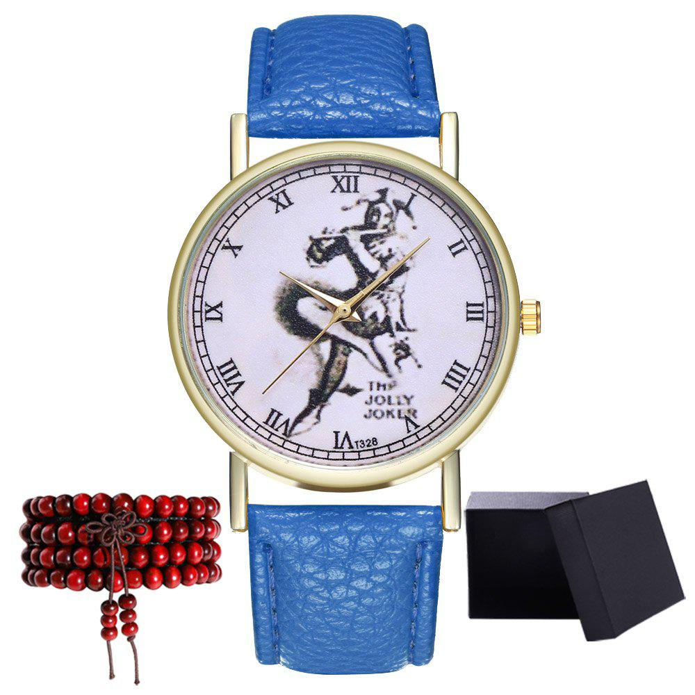 Kingo T328-1 Creative Painting Pattern Neutral Quartz Watch - ROYAL BLUE