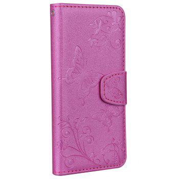 Cover Case for iTouch 5 / 6 Mirror Shell Butterfly and Flower Pattern - HOT PINK