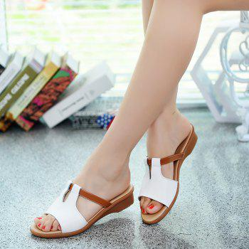 Summer Shallow Fashion Ladies Sandals and Slippers - WHITE 41