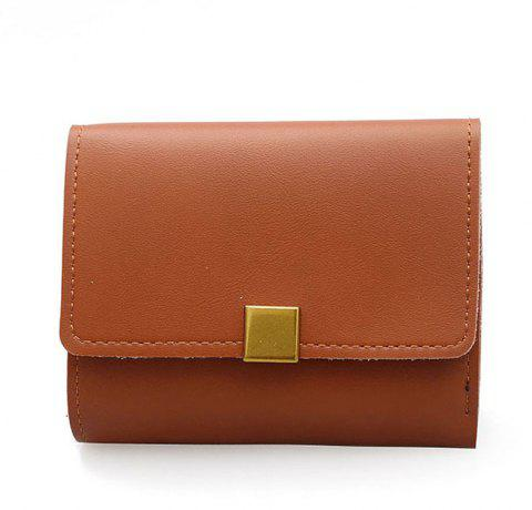 A Short Purse with Wallet Small - LIGHT BROWN