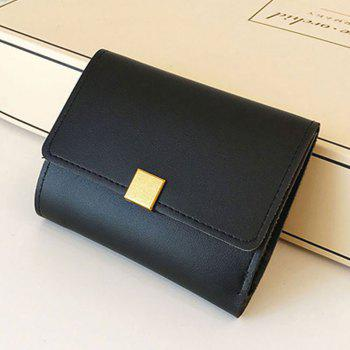 A Short Purse with Wallet Small - BLACK