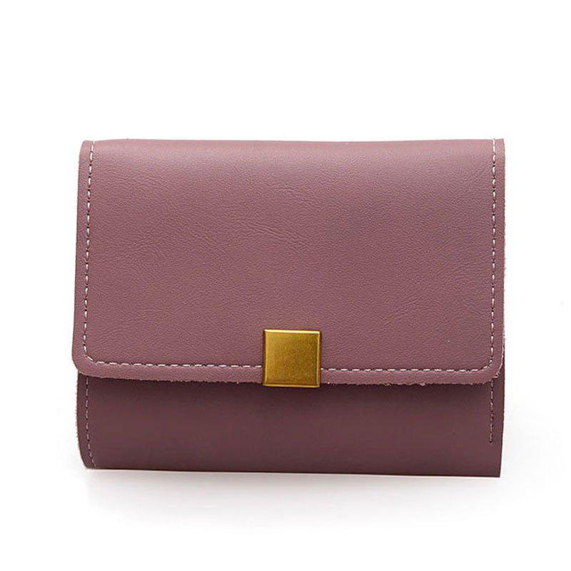 A Short Purse with Wallet Small - DULL PURPLE