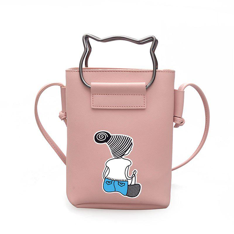 Small Female Fashion Handbag Crossbody Female Mobile Phone Bag - PINK