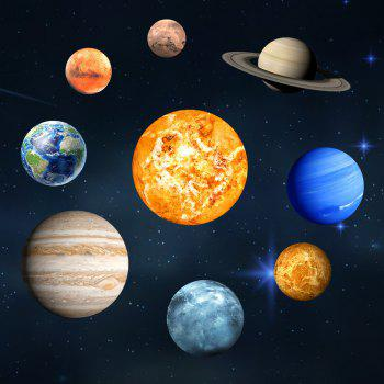 Glow in the Dark Planet Wall Stickers 9 Planets Solar System Wall Decals - multicolor A