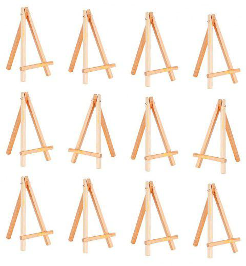 10PCS Wooden Crafts Creative Pine Logs DIY Small Tripod Easel Display Ornaments - BURLYWOOD