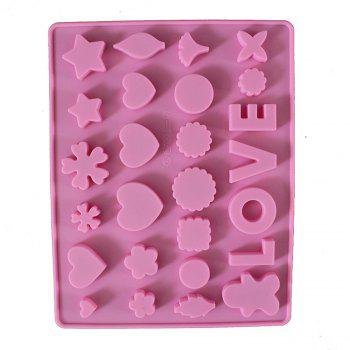 New Silicone Cake Miscellaneous Figure Love Word Chocolate Ice Tray Cookie Mold - PINK