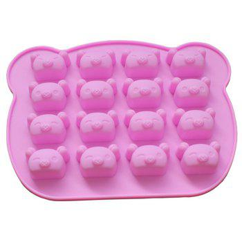 Hot 16 Even More Expression Pig Silicone Chocolate Cake Mold - PINK