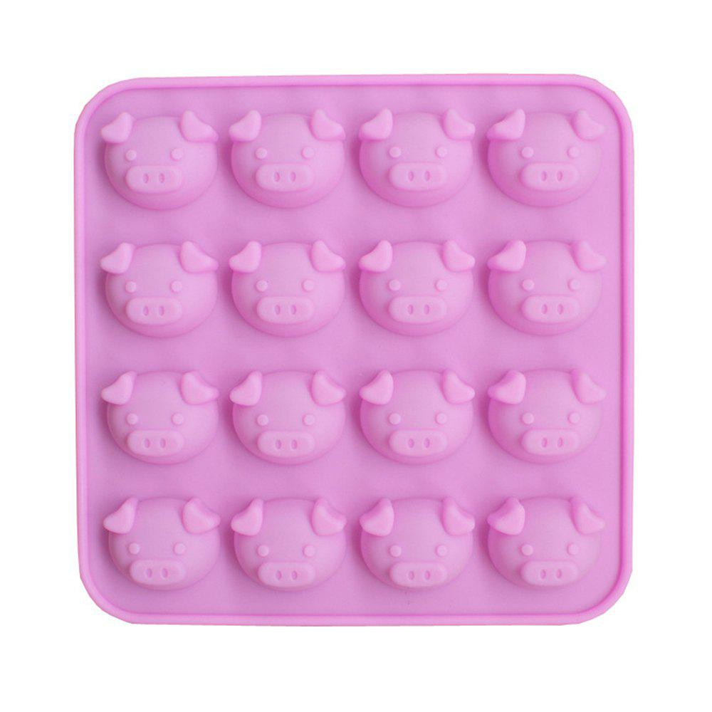 New 16 Even Cartoon Cute Pig Head Silicone Cake Chocolate Mold baby girl s comfy cute cartoon pig style hand knitted warm gorro hat pink black