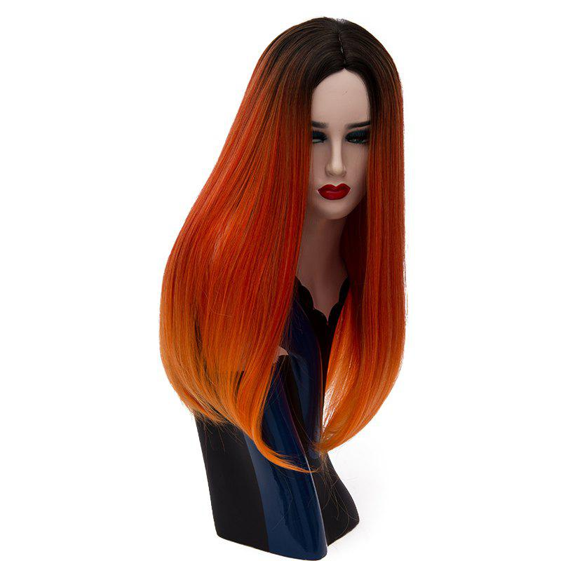 Fashion Natural Long Straight Red Bob Hair for Women Heat Resistant Wig 23 inch стоимость