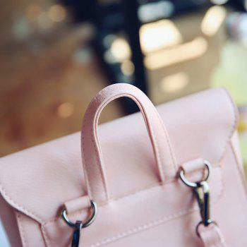 Women Small Backpack Ladies High Quality PU Leather School Bags for Teenager - PINK BUBBLEGUM