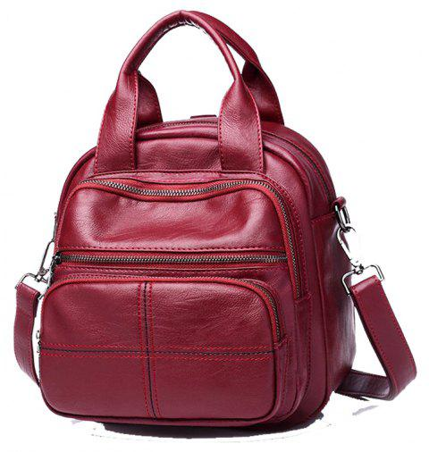 3ee235ded6 Large Vintage Classic Fashion Oil Wax Cowhide Real Leather Women S Backpacks  - LOVE RED