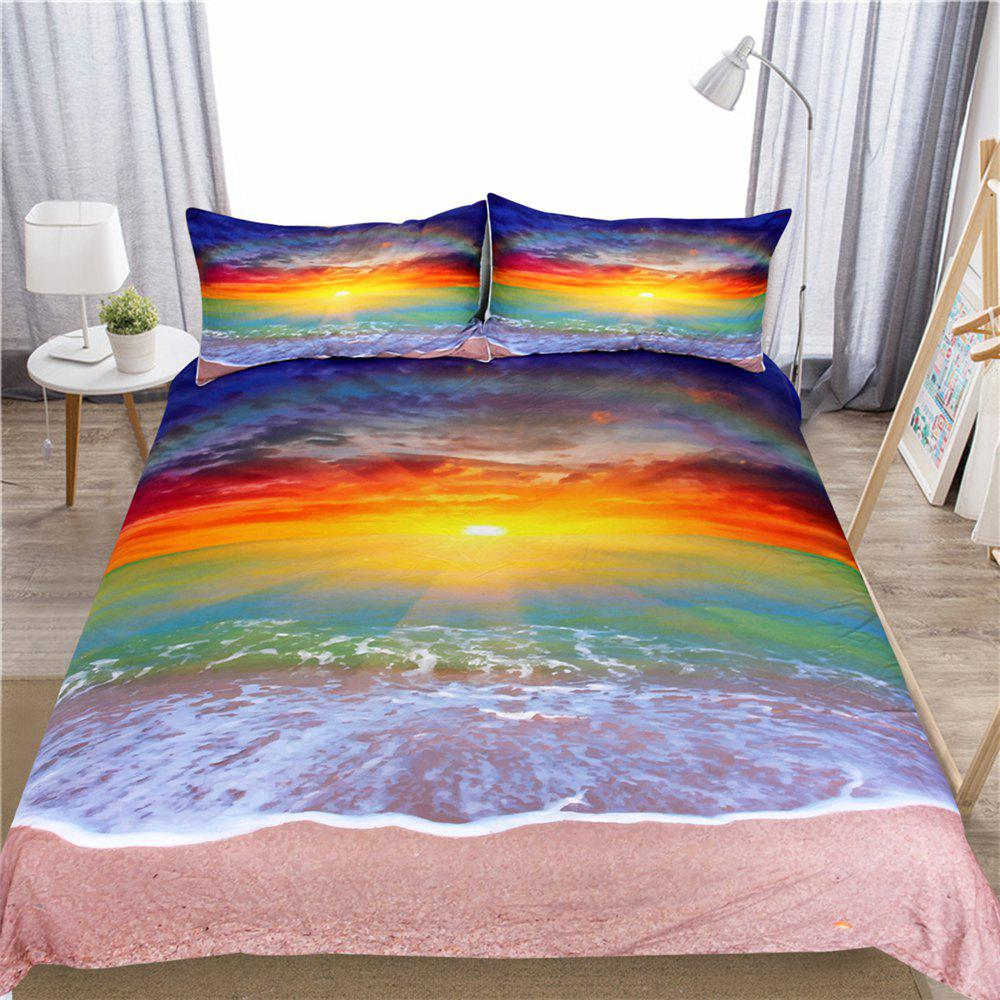 Colorful Bedding 3pcs Duvet Cover Set Digital Print - multicolor KING