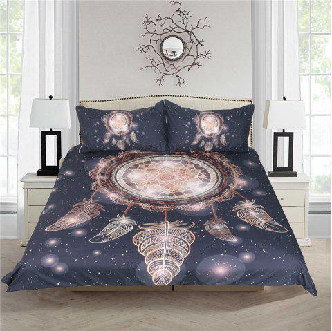 Dreamcatcher Bedding 3pcs Duvet Cover Set Digital Print - multicolor KING